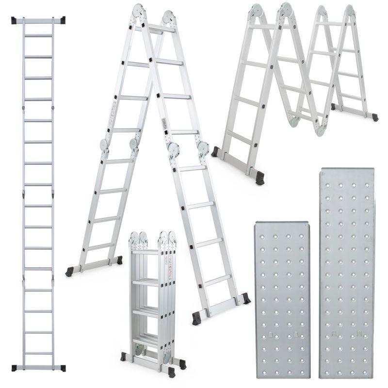 15 5 Ft Multi Purpose Aluminum Folding Step Platform Scaffold Ladder 330lbs New Scaffold Ladder Ladder Aluminium Ladder
