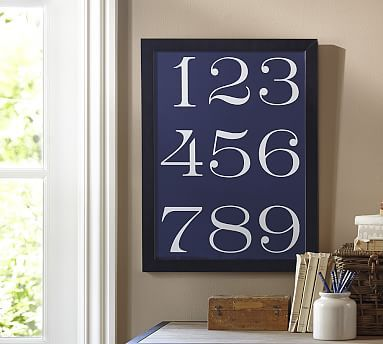 Indigo Numbers Framed Print Decorating With Pictures