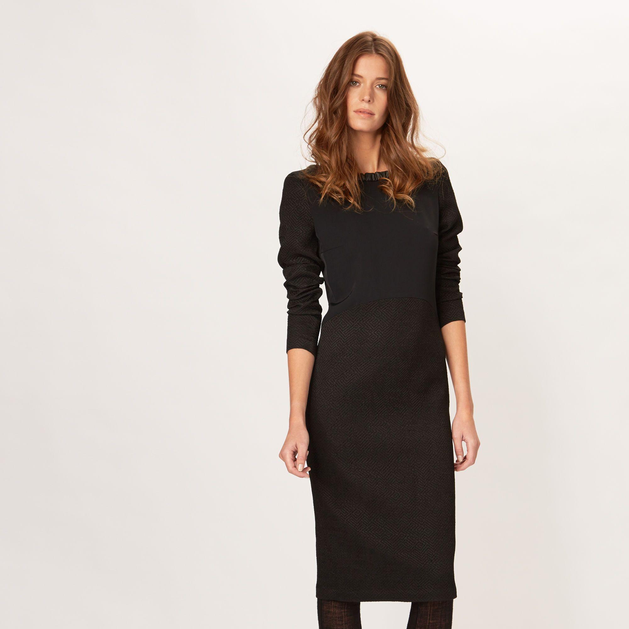 robe maje manche mi longue noire