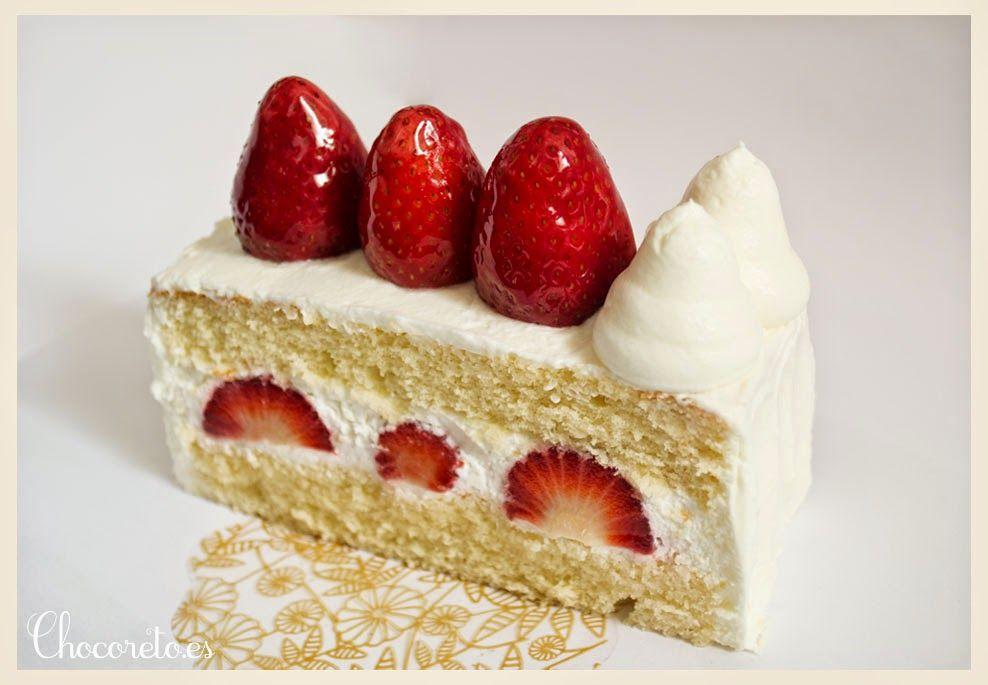 Japanese Strawberry Shortcake (Tarta de fresas y nata)