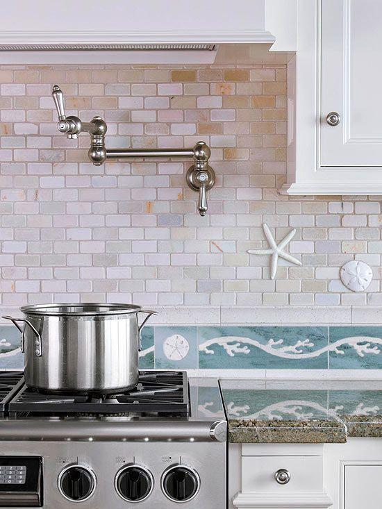 An Ocean-Inspired Kitchen Makeover | Cocinas, Cocina y Casa