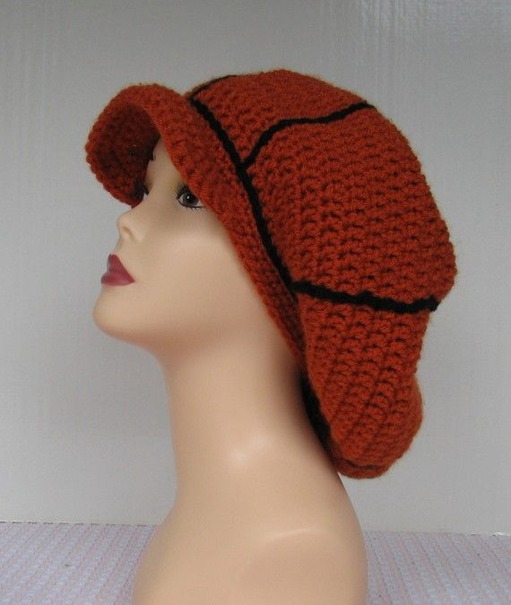 Basketball Beret Tam Crochet Pattern - 2 sizes medium/large ...