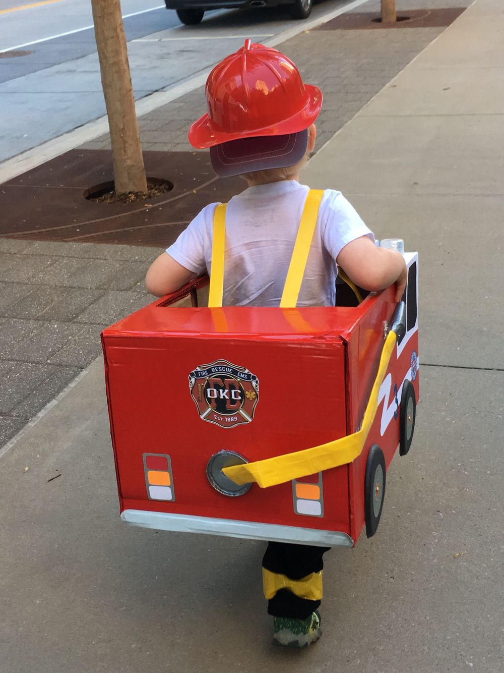 Toddler Preschool Boy Fireman Fire Truck Halloween Costume