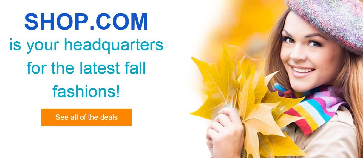 Get the latest fall fashions at SHOP.COM!