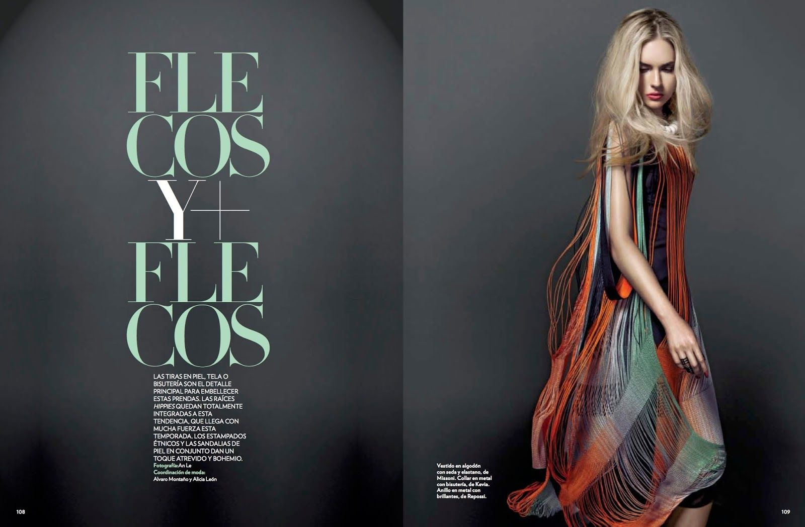 visual optimism; fashion editorials, shows, campaigns & more!: flecos y flecos: courtney james by an le for marie claire mexico april 2014