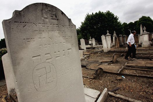 French police were questioning five teenagers Monday in connection with hundreds of Jewish gravestones that were knocked over and defaced with swastikas and Nazi slogans.The teens, all males aged 15-17, were taken into custody after one of them turned...