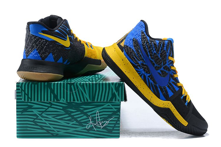"new style 30fdb 74922 Nike Kyrie 3 ""What The"" University Gold Blue Glow-Black For Sale   Air  Jordans 2018"