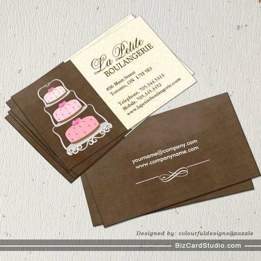 Cake bakery business cards bakery business cards for Cake business card ideas
