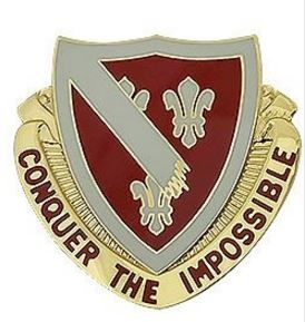 105th Engineer Battalion Unit Crest Conquer The Impossible Military Insignia Insignia Badge