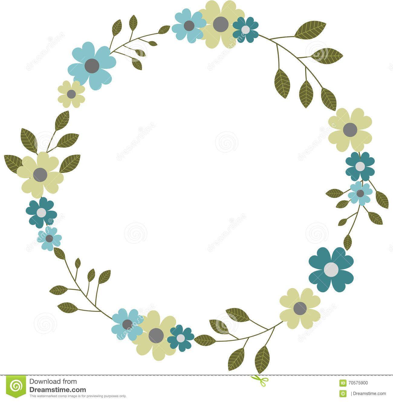 guirnalda-floral-circular-de-la-guirnalda-del-marco-marco-redondo-de ...