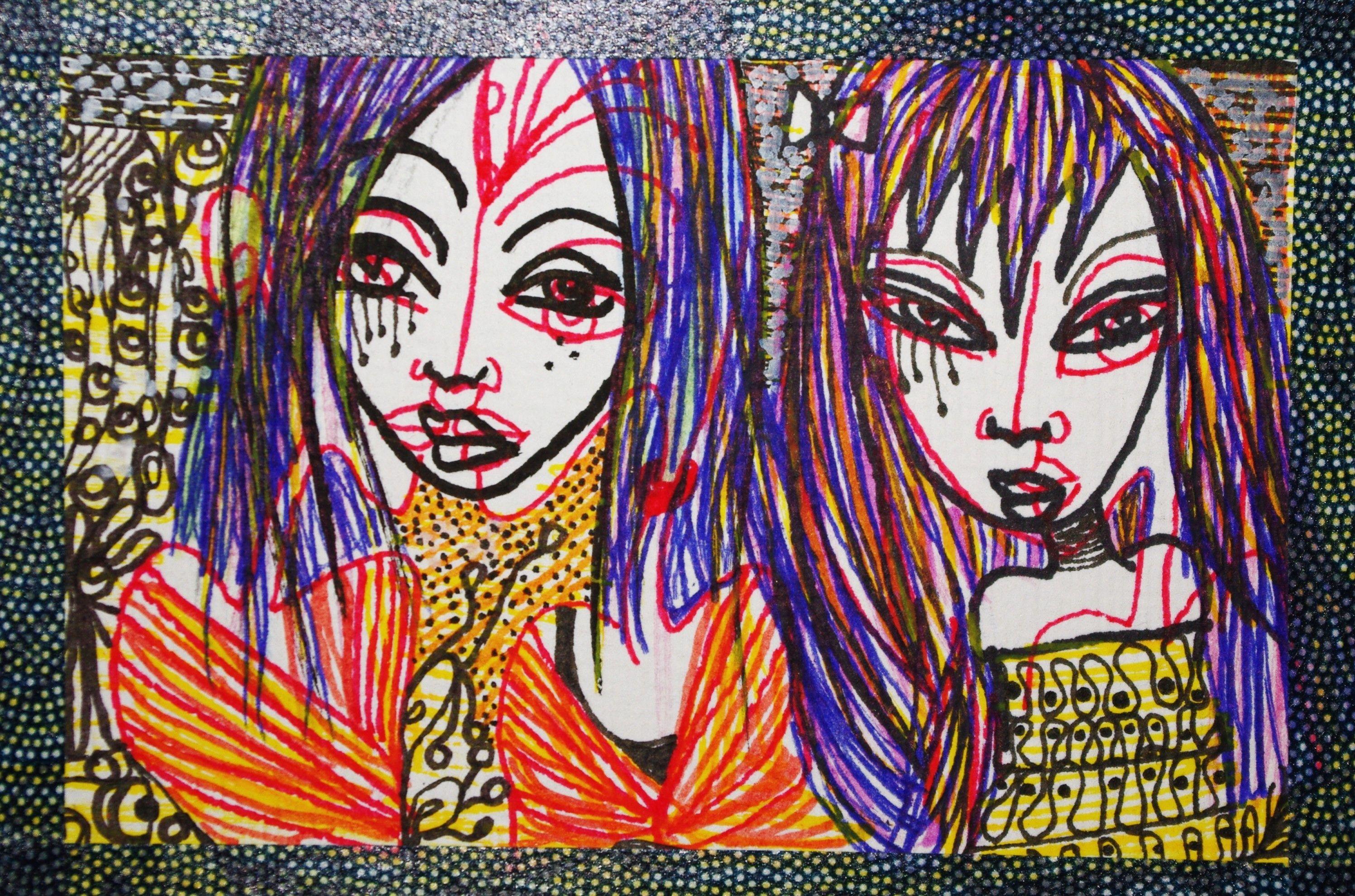 WILD THINGS  acrylique, encre sur papier 2011