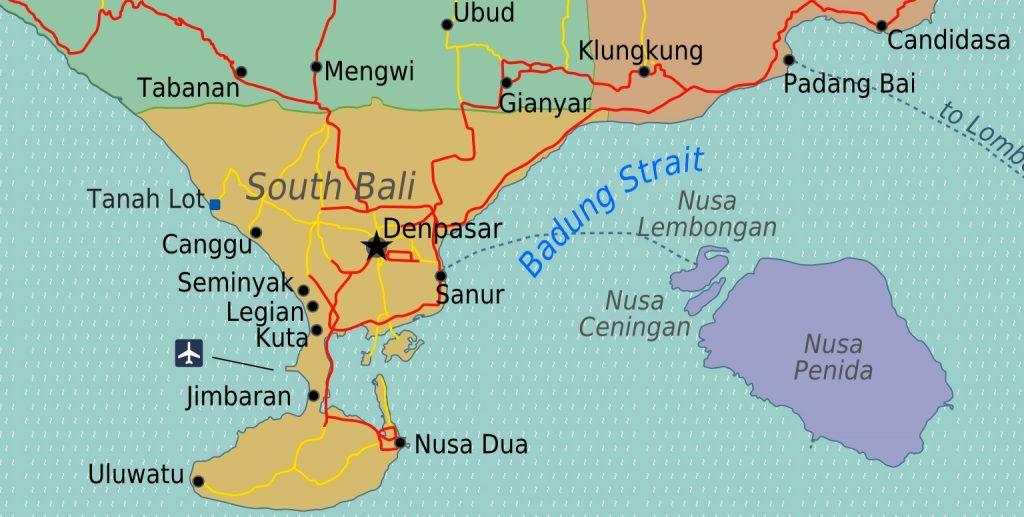 Les Lieux D Interets A Bali Par Regions Bali Ile De Bali Et Lieux