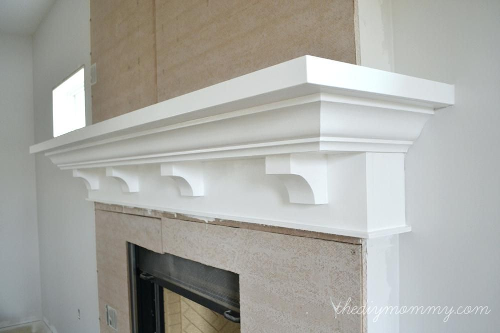 Build Fireplace Mantel Shelf Building Our The Mommy How To A With Crown Molding