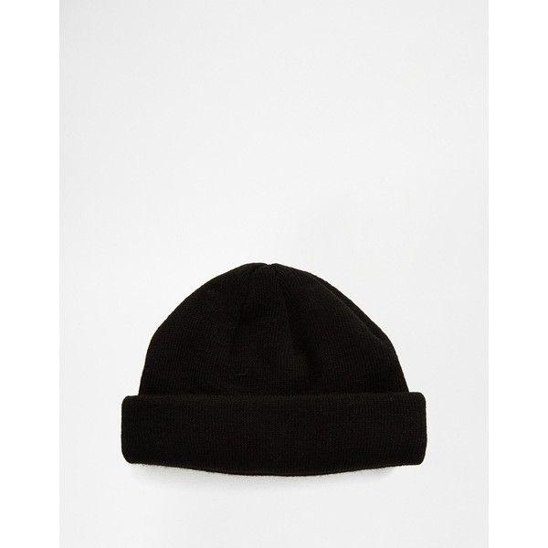 Asos Mini Fisherman Beanie In Black Beanie Hats For Men Mens Streetwear