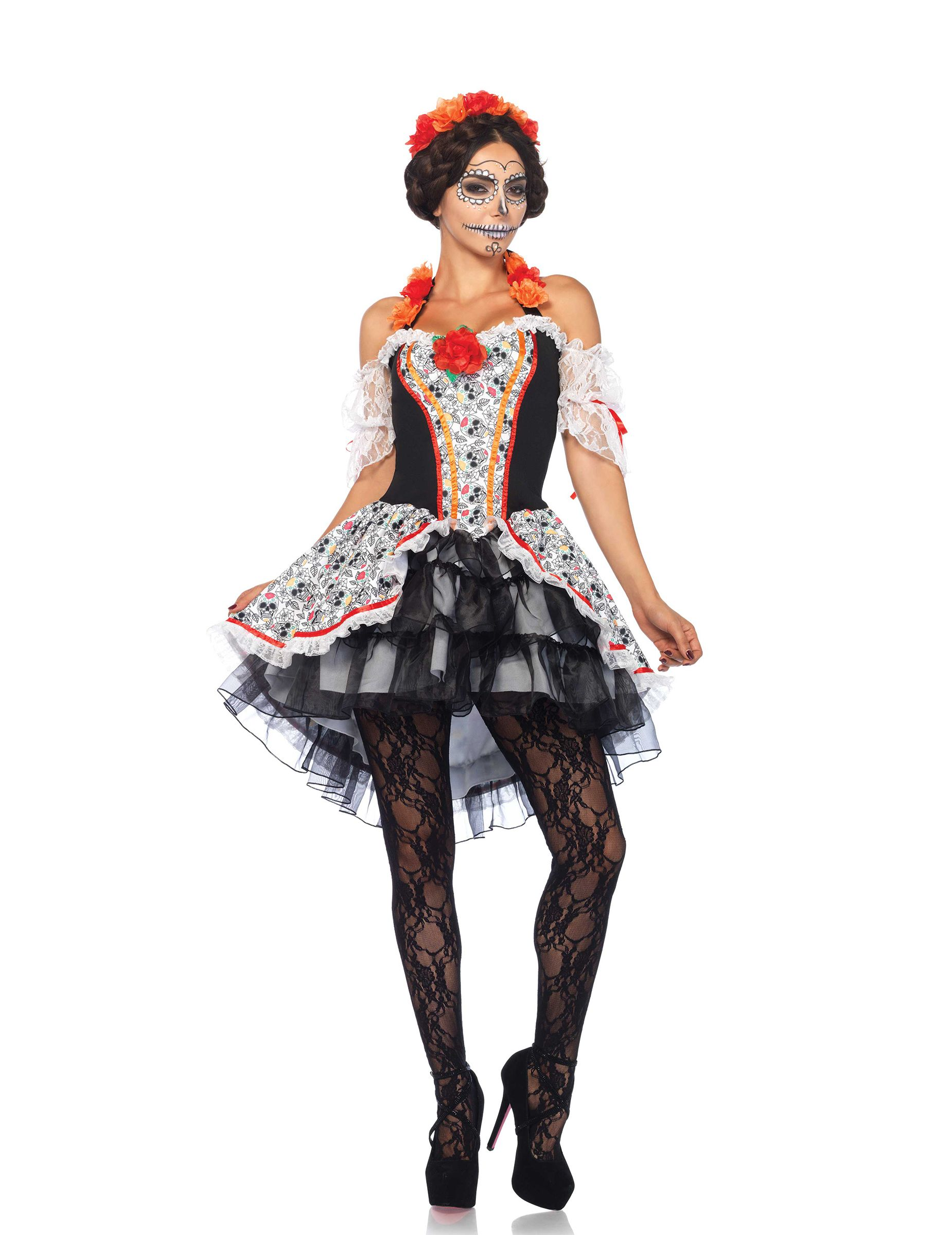 Disfraz calavera Día de los muertos mujer Halloween | Home-made ...