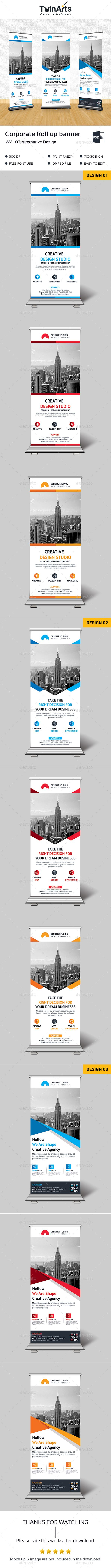 Corporate Roll up Banner Template | Banner template, Banners and ...