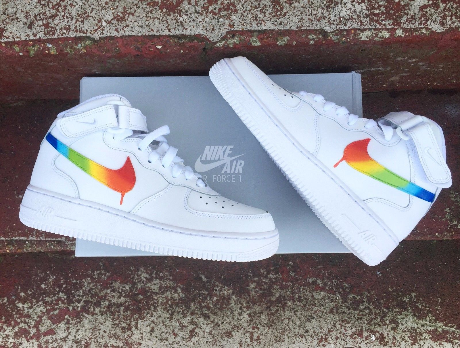 #Rainbow nike air #force 1's, View more on the LINK: http: