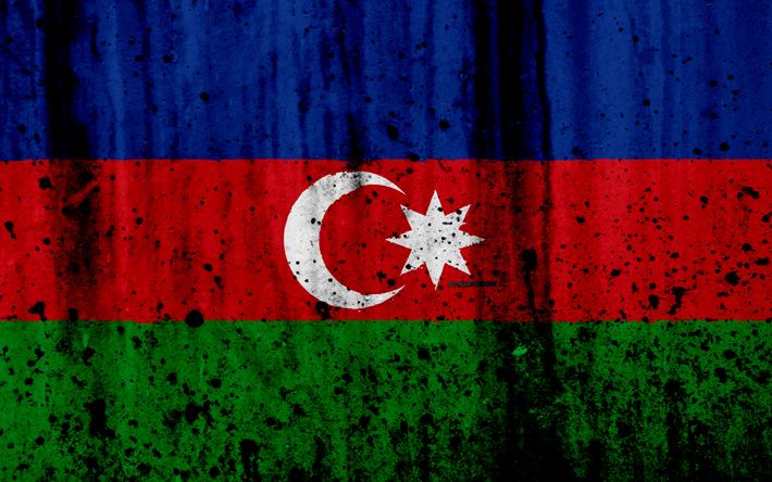 Herunterladen Hintergrundbild Aserbaidschanische Flagge 4k Grunge Flagge Von Aserbaidschan Asien Aserbaidschan Nationale Symbole Aserbaidschans National Hintergrundbilder Aserbaidschan Asien