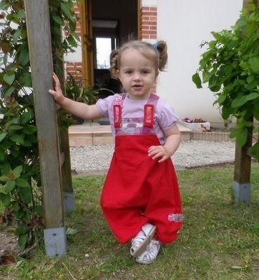 ecf51e98d221 Salopette sarouel Ptit Boy version fille 12 mois au 8 ans