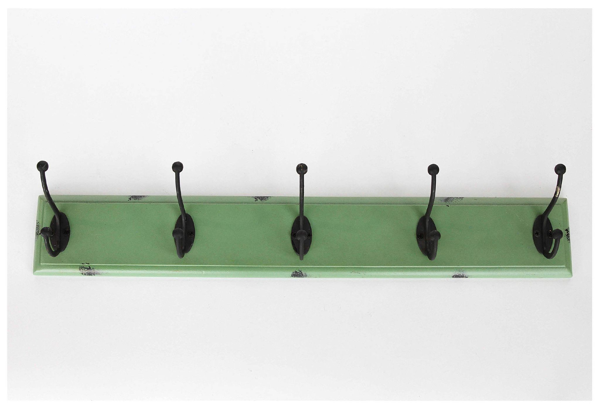 Distressed Green Wall Rack