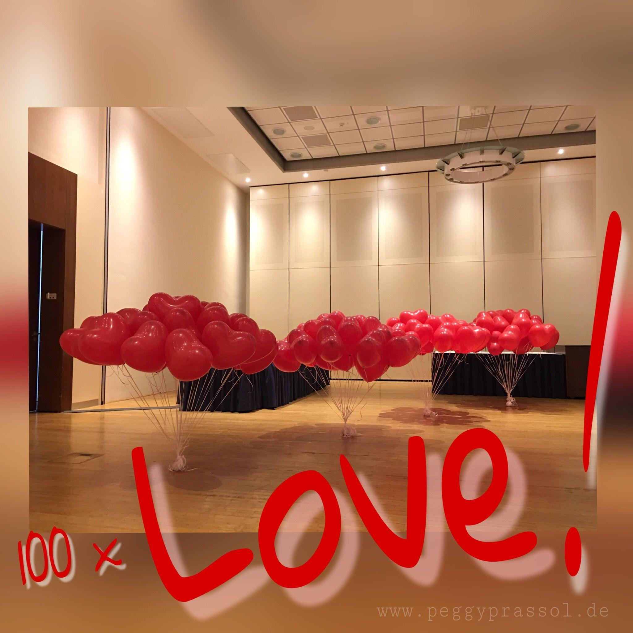 Herzballons zur Hochzeit Luftballon überraschung