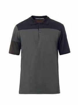 defad167 Balenciaga Tri colour two button polo top on shopstyle.com   Men's ...