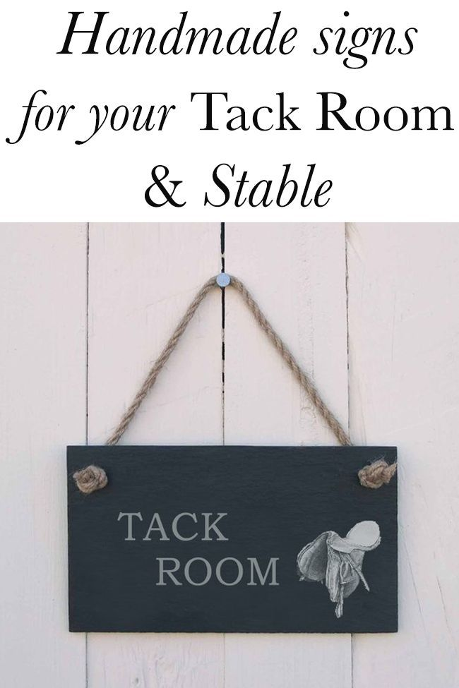 Handmade Signs for Your Tack Room Handmade signs