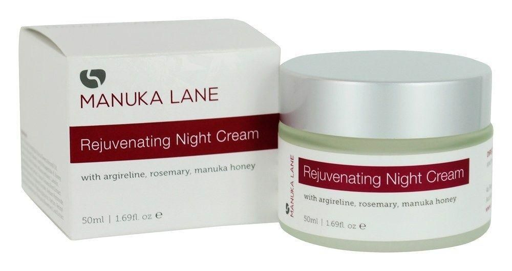 Rejuvenating Night Cream - 1.69 oz. by Manuka Lane (pack of 2) brightening vitamin c eye gel and 100% natural fresh citrus chapstick total hydration lip balm