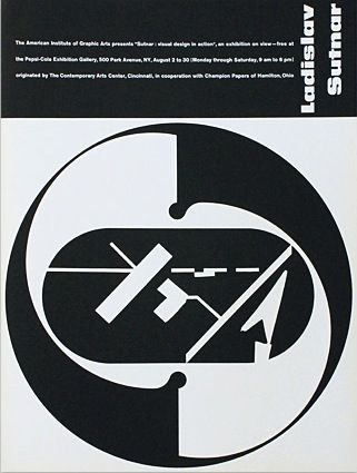 Sutnar Visual Design in Action Exhibition Poster, The American - american institute of graphic arts