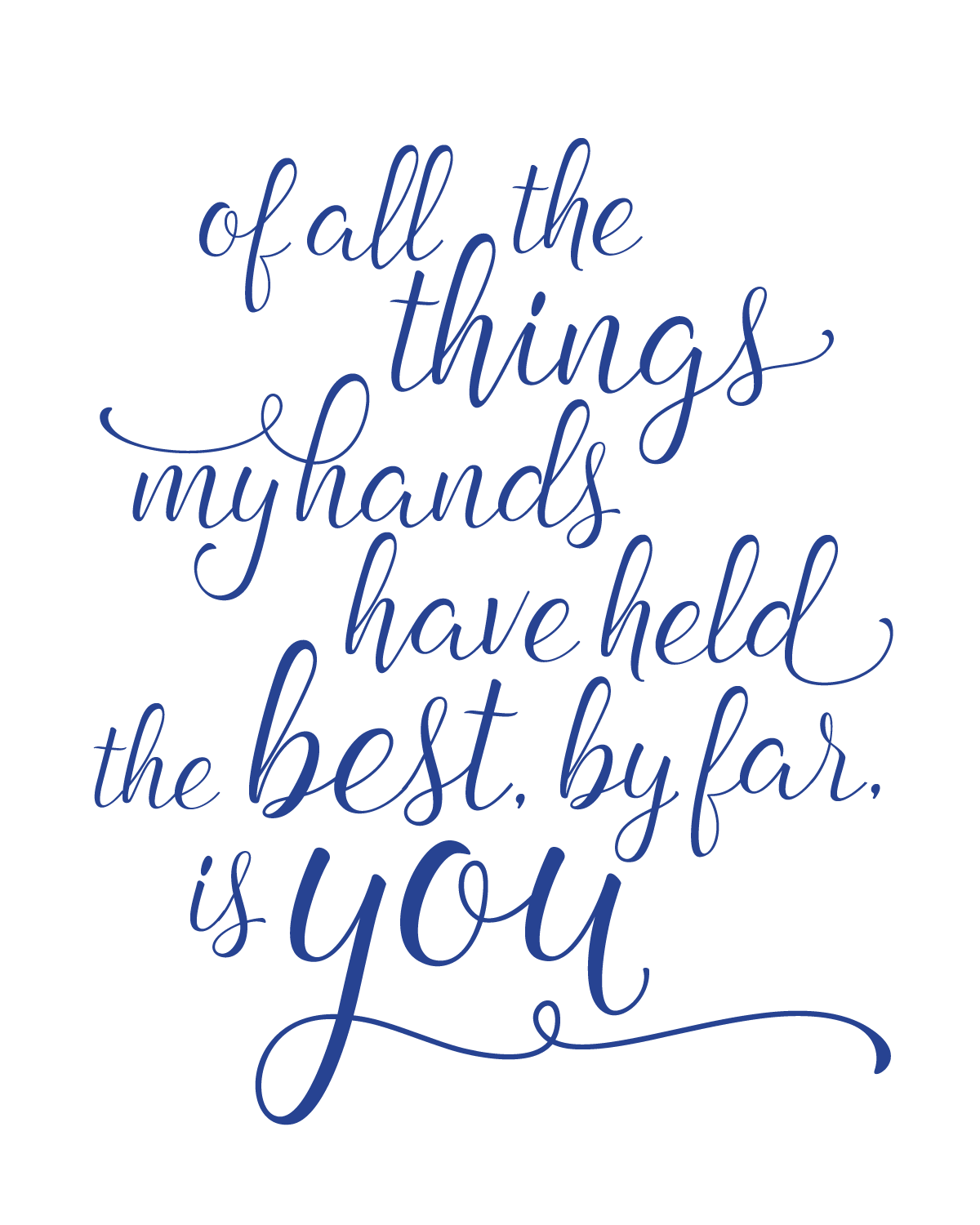 Happy Baby Boy Quotes: All The Things My Hands Have Held Printable