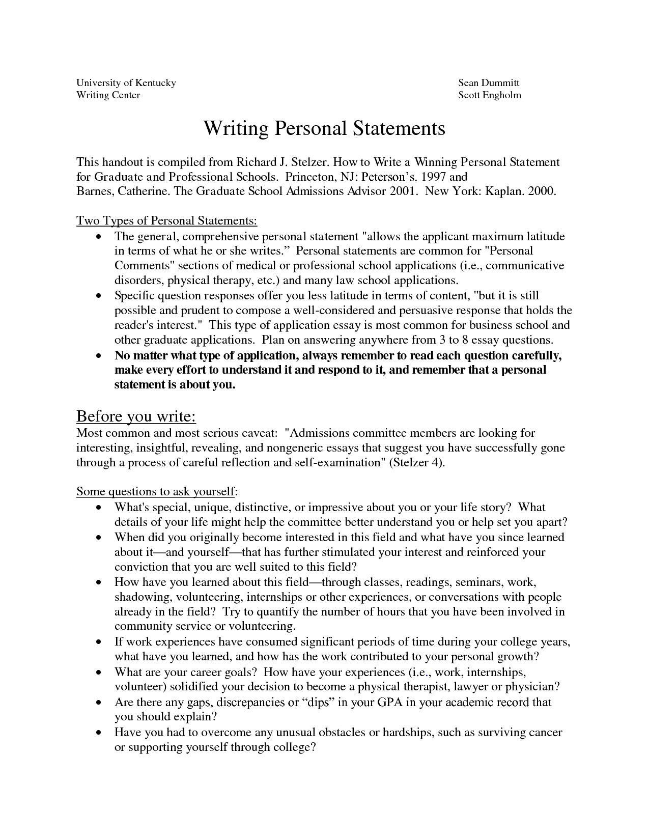 Personal Statement for Nurse Practitioner Program Examples
