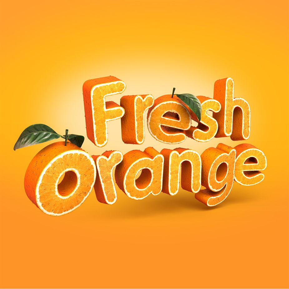 The foundry community forums fresh orange 3d typography in this tutorial from tutsplus you will use a combination of modo photoshop and illustrator to create a fruit textured text effect that resembles an baditri Choice Image
