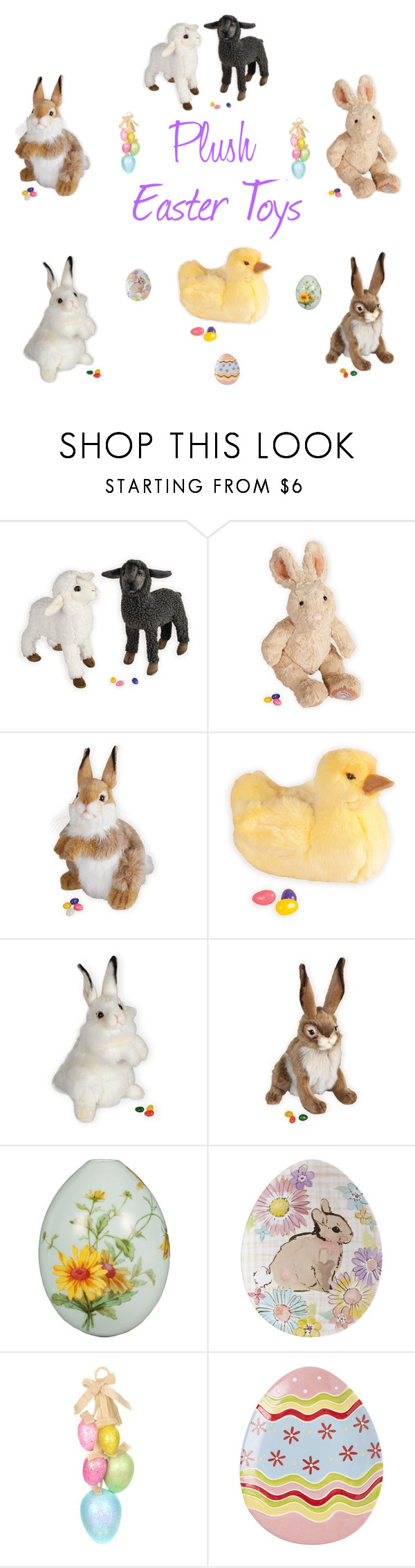 """Plush Easter Toys"" by woodensoldier on Polyvore featuring Pier 1 Imports"