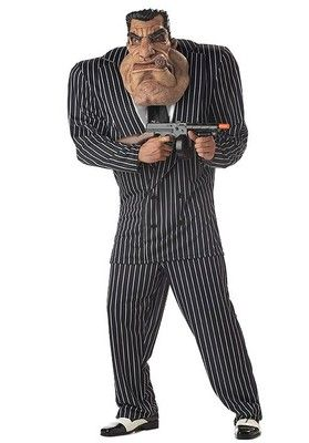 Men'S Massive Mobster Party Costume    He paid his dues and now this big brute is looking for a new boss!   Men's Costume available in sizes Large and Extra Large    gun not included!    Shipping takes about 3-5 Days     Any Questions Please feel free to contact me!