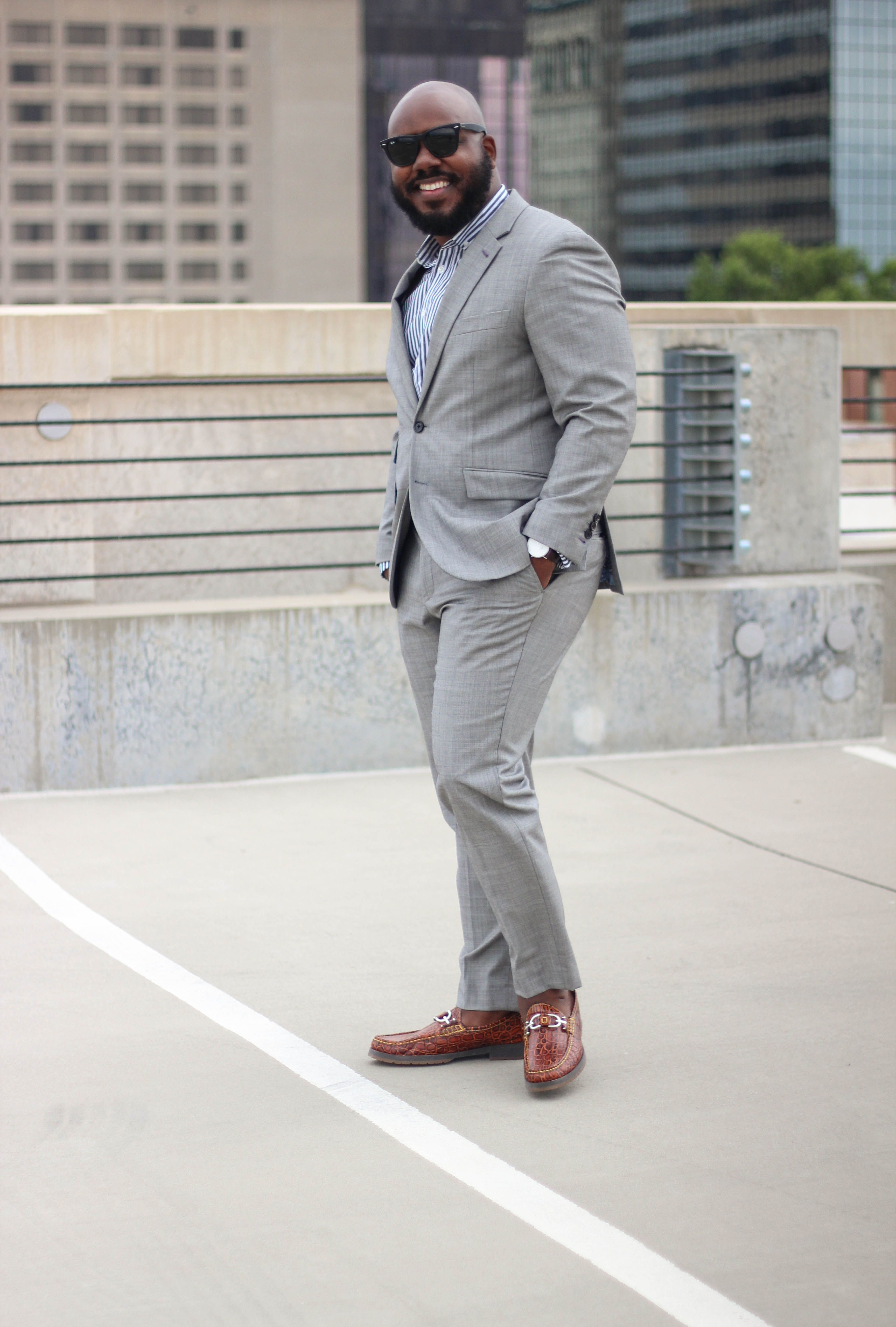 gray suit brown shoes wwwimgkidcom the image kid has it