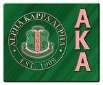 Alpha Kappa Alpha Hard Mousepads - Green with Pink #happyfoundersdayalphakappaalpha These Alpha Kappa Alpha hard mousepads are a beautiful way to liven up your desk!