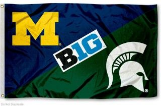 House Divided Flag Michigan Vs Michigan State House Divided