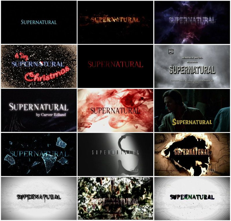 Supernatural Title Cards Seasons 1-7 (with special episode ...