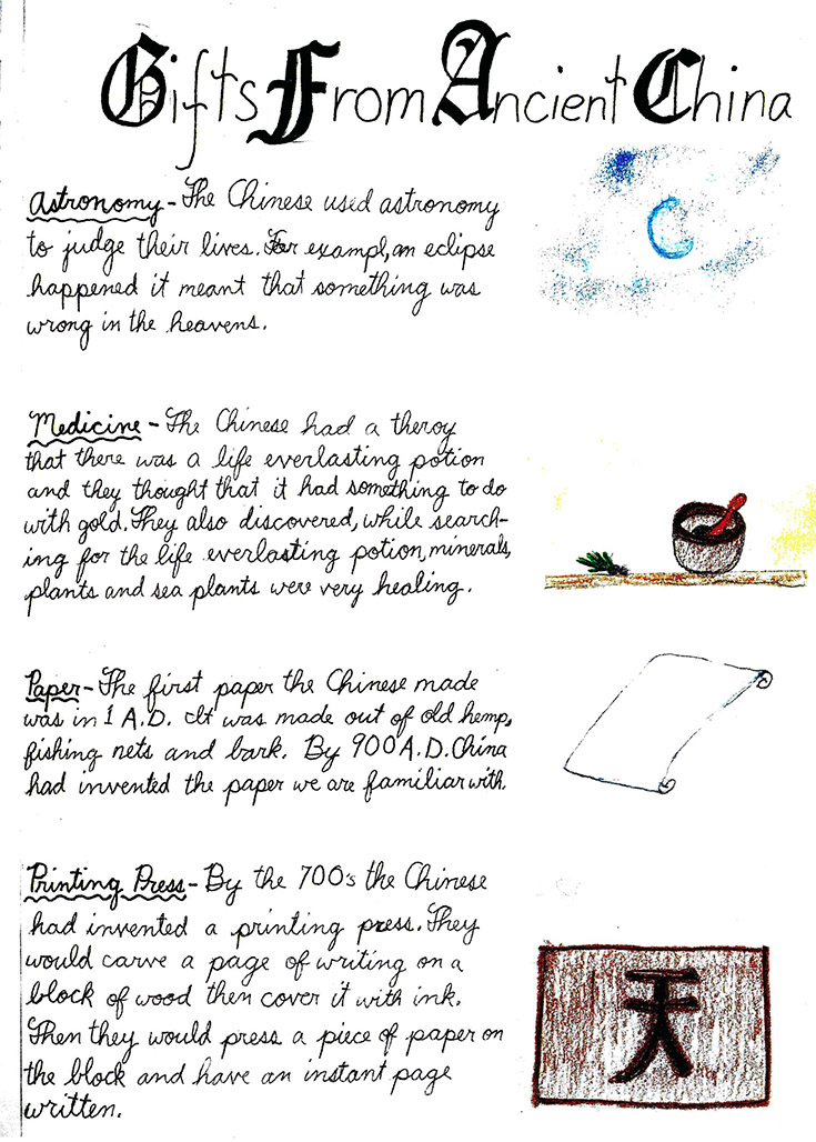 Waldorf Inspirations 6th Grade Geography & History