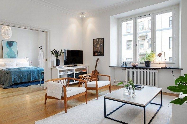 Nordic Inspired Living Room Blue Interior Design For Little Square Living Room Scand Interior Design Living Room Living Room Scandinavian Living Room Designs