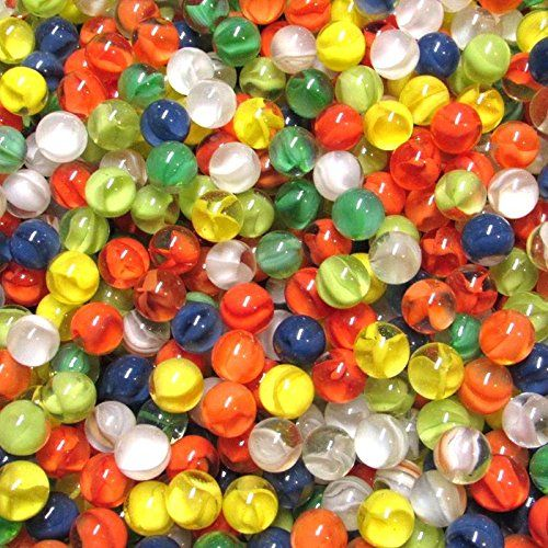 """MARBLES 2 POUNDS 1/"""" RAINBOW CATS EYE MARBLE KING MARBLES FREE SHIPPING"""