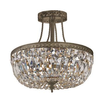 Crystorama Richmond 3 Light Semi Flush Mount