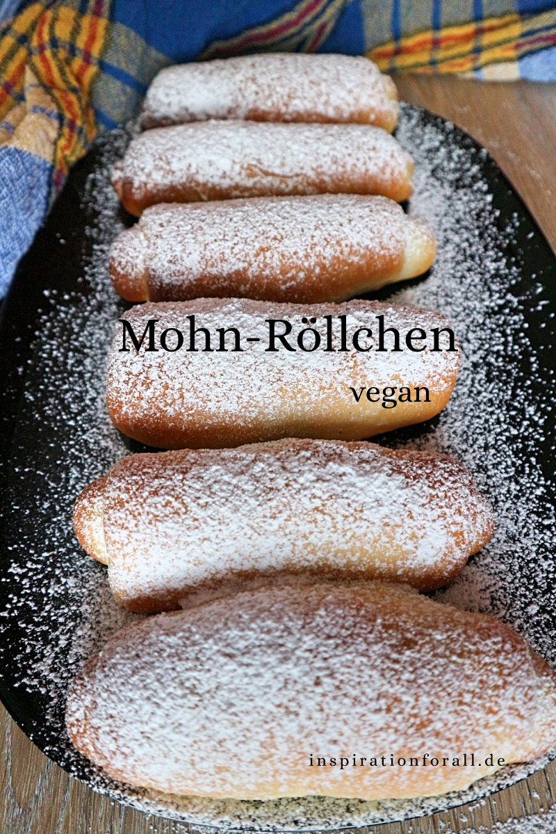 Mohn-Röllchen vegan – sehr luftig und weich – Healthy desserts – Erbaa Blog