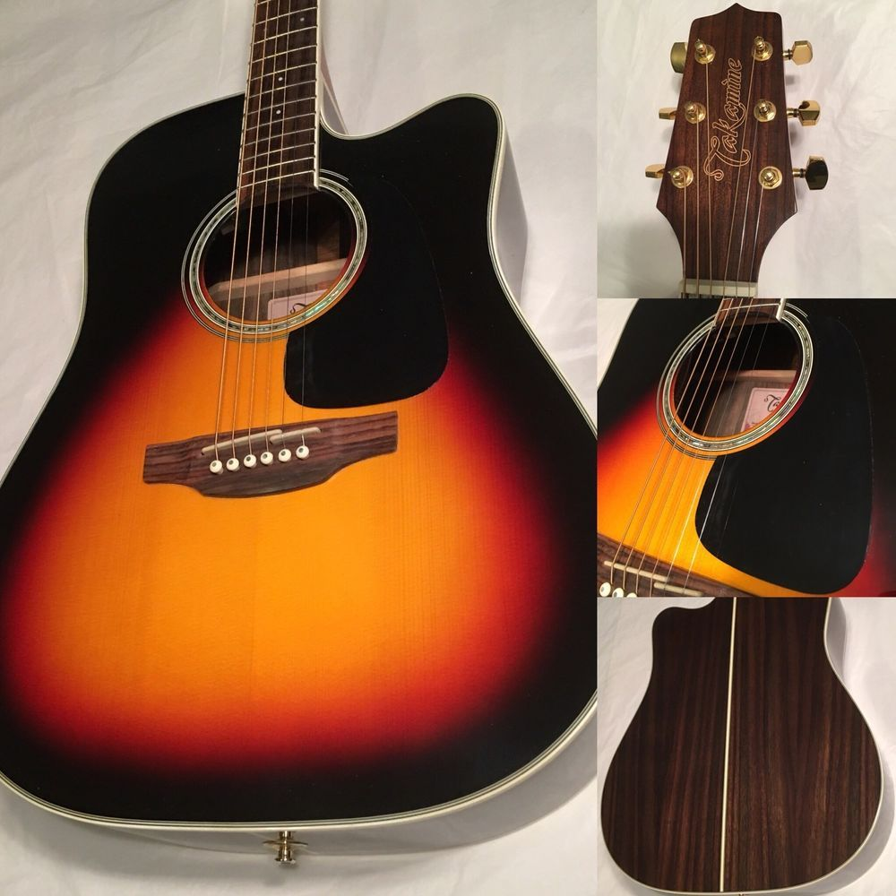 L K Takamine Dreadnought Cutaway Acoustic Electric Guitar Gd51ce Bsb Sunburst Acoustic Electric Guitar Acoustic Electric Cool Electric Guitars