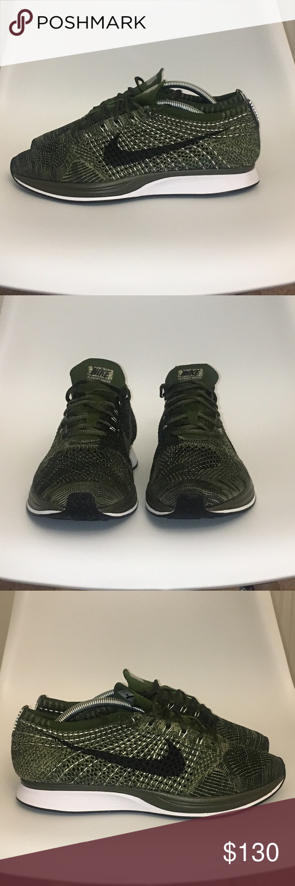 """e5e477be94f4 Nike Flyknit Racer """"Rough Green"""" - Nike Flyknit Racer. - """"Rough green"""" olive  green - Men s Size 10 - Used - Great condition - Price is firm Nike Shoes  ..."""