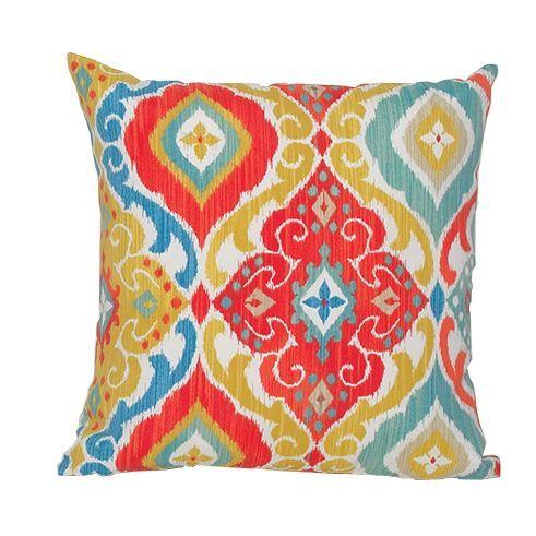 Enjoyable Multi Color Indoor Outdoor Throw Pillow Backyard In 2019 Creativecarmelina Interior Chair Design Creativecarmelinacom