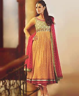Anarkali Dresses Online Shopping, Anarkali Wedding Suits, Yellow ...