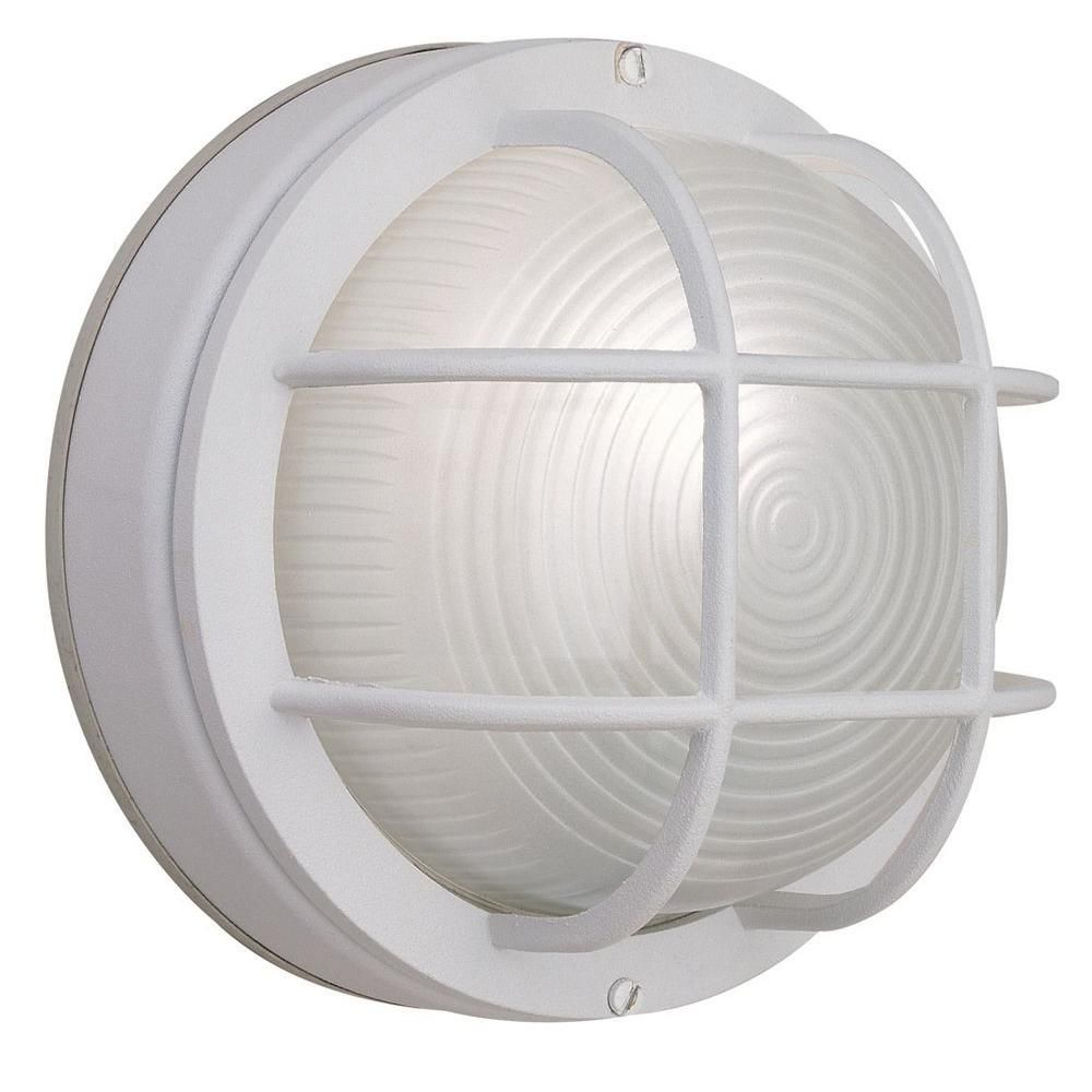 Light white outdoor round wall bulkhead light beach kitchens