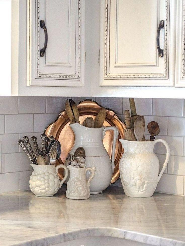 52 Simple French Country Kitchen Decor Ideas 52 Idees Simples De Decoration De Cuisine Francaise Pays Decor Franc In 2020 French Country Decorating Kitchen