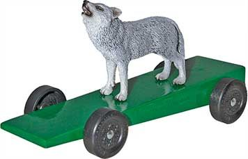 Love This Idea   Wolf Or Bear For A Pinewood Derby Car